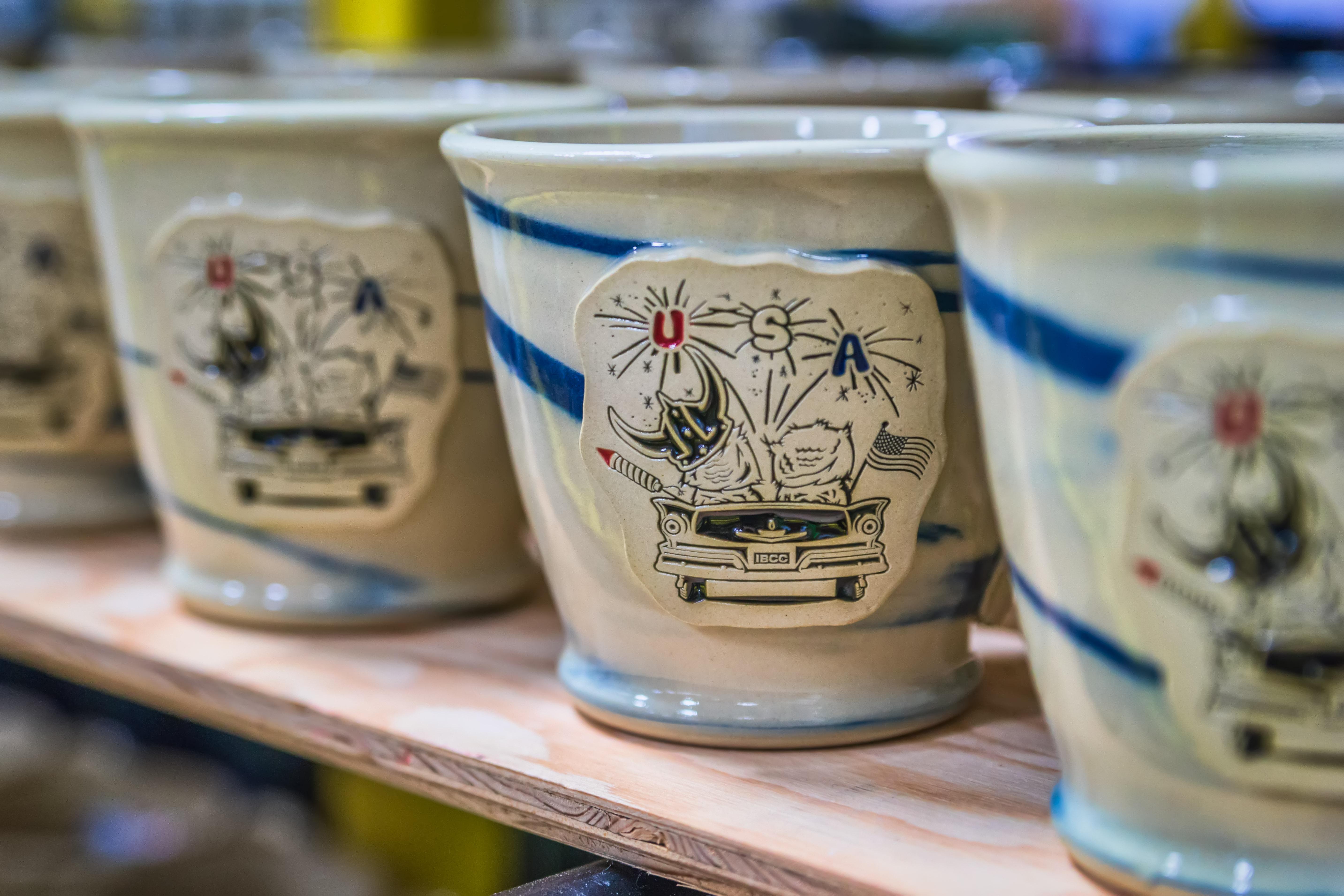 Stoneware mug with new developments from Iron Bean Coffee Company